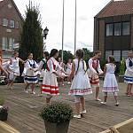 Die Jugendtanzgruppe des TPZ Lingen beim Volkstanztreffen in Haselünne. (Quelle: privat)