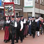 Die Tanzgruppe aus Brandlecht-Hestrup beim Volkstanztreffen in Haselünne. (Quelle: privat)