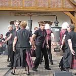 Die Tanzgruppe aus Freren beim Volkstanztreffen in Haselünne. (Quelle: privat)